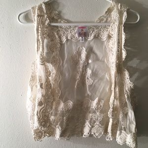 Ivory Lace Vest
